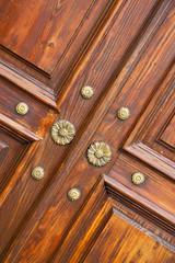 abstract  rusty brass brown   closed wood door crenna gallarate