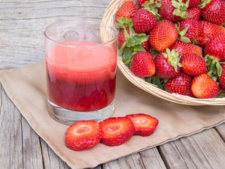 fresh strawberries smoothie