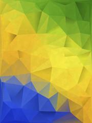 ブラジル 背景 Geometric background in Brazil flag