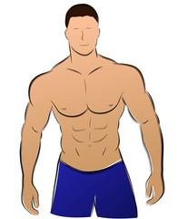 Vector muscle man