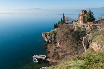 View of Lake Ohrid in Republic of Macedonia