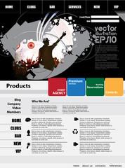 Music website. Vector