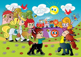 zabawa ilustracja dla dzieci