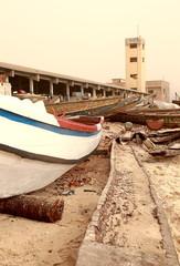 Canoe in Guet Ndar beach-Senegal