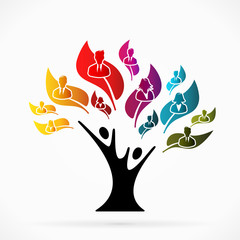 Abstract logo with business tree