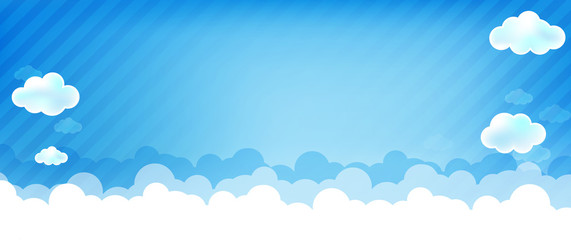 Cloud and blue background 004