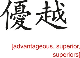 Chinese Sign for advantageous, superior
