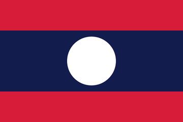 Flag of Laos - Lao People's Democratic Republic