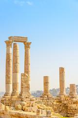 Temple of Hercules of Amman Citadel in Amman, Jordan