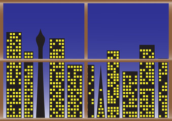 CityScape Night lights