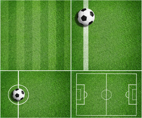 Mixed Soccer Backgrounds