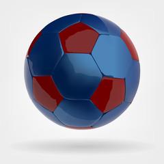 blue soccer football vector