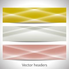 Web headers, set of vector banners