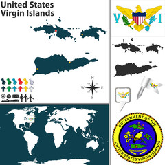 Map of United States Virgin Islands