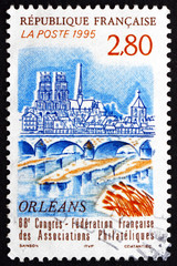 Postage stamp France 1995 View of Orleans