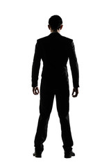 Silhouette of business man standing