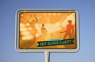 Schild Party