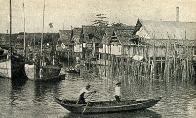 Pile dwellings in Malay Archipelago
