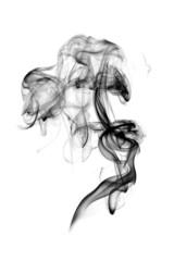 Dark smoke isolated