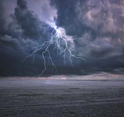 Printed kitchen splashbacks Storm Dangerous Place