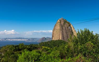 The mountain Sugar Loaf and Guanabara bay in Rio de Janeiro