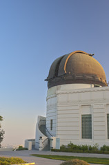 Dome of Griffith Observatory in Los Angeles, California