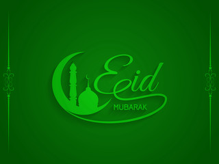Green color background for Eid