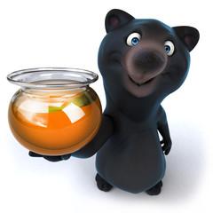 Papier Peint - Black bear