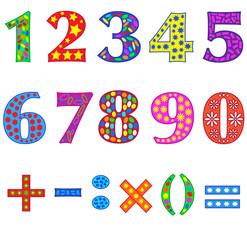 Набор цифр.
