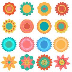 Vector of colourful Flower set .eps10