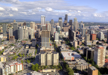 Seattle Downtown Aerial view