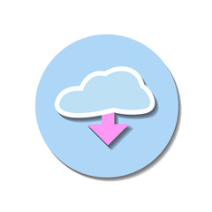 Icon web of clouds over white background