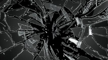 Obraz Pieces of destructed Shattered glass - fototapety do salonu