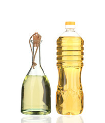 Small bottles of olive oil.