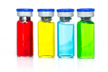 Colourful of Medical ampoules