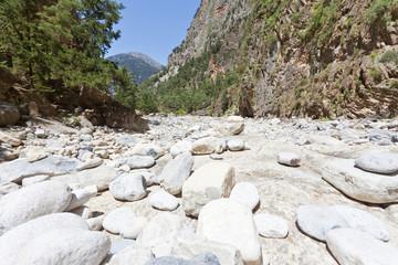 Kreta - Griechenland - Trockener Fluss der Samaria-Schlucht