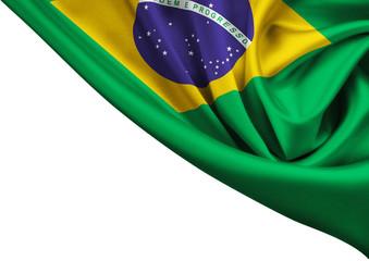 Garden Poster Brazil flag of Brazil crop isolated on white