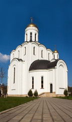 new church of st. vladimir on summer day
