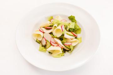salad with radish and cheese