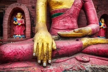 Wall Murals Nepal Buddha statue in Nepal
