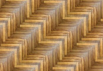 interesting striped parquet pattern