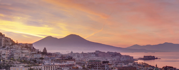 Photo sur Plexiglas Naples Panorama di Napoli
