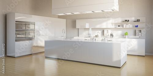 große moderne weiße küche