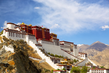 Potala palace in Lhasa, Tibet Wall mural