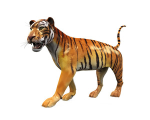 Tiger Figure Isolated