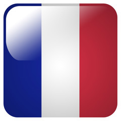 Glossy icon with flag of France