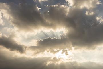 Sky against sunlgiht.