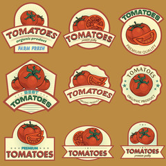 Tomatoes labels