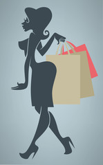 season of shopping, vector commercial background