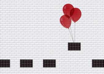Prison evasion ballons